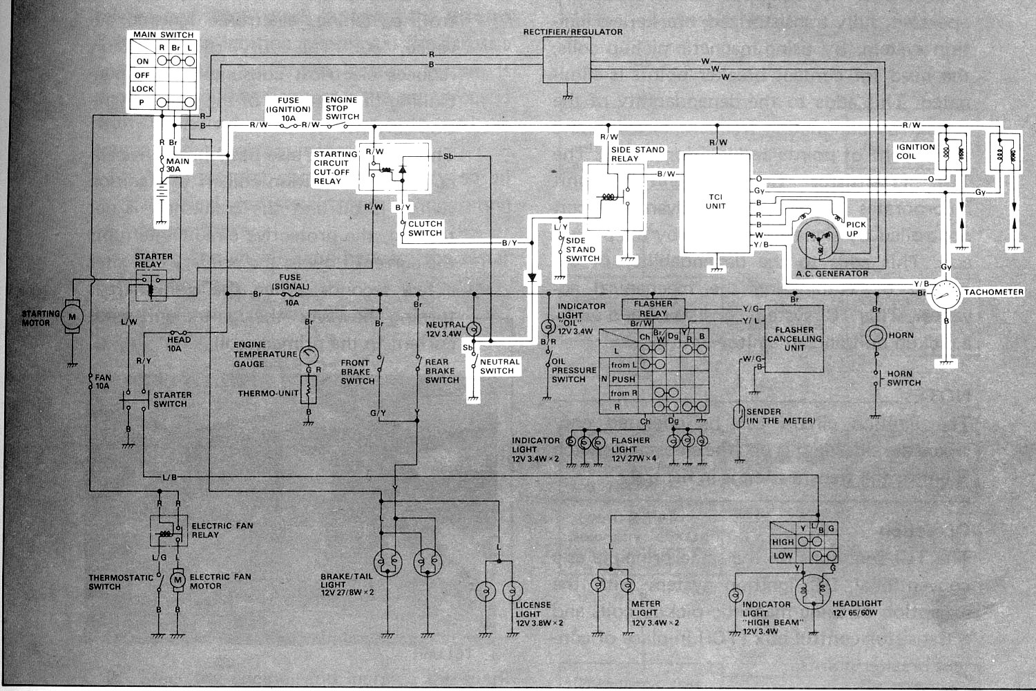 WRG-7069] 1996 Virago 1100 Wiring Diagram on